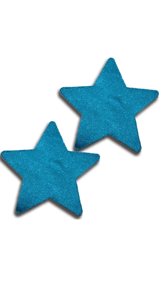 Solid Teal Star Pasties, Blue Star Pasties