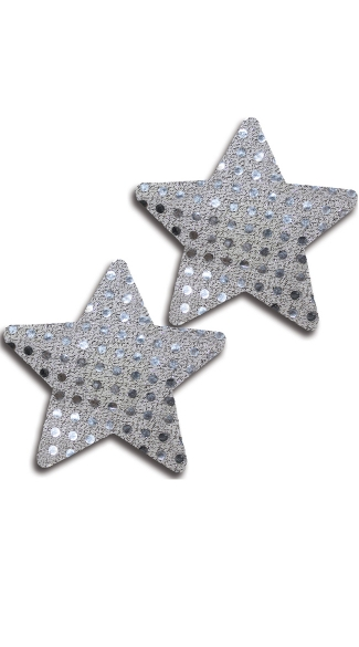 Silver Sequin Star Pasties