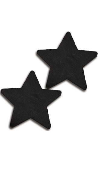 Solid Black Star Pasties, Black Pasties