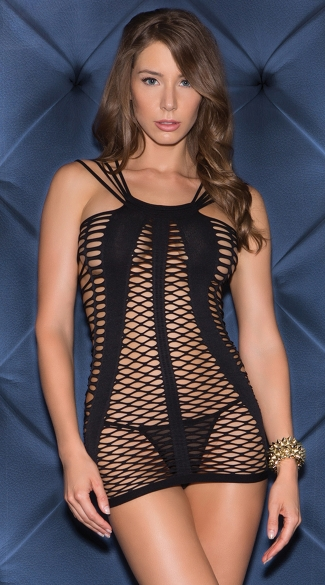 Strappy and Netted Seamless Chemise