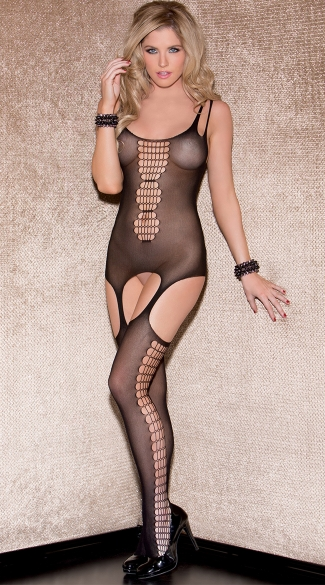 Honeycomb Mesh Bodystocking