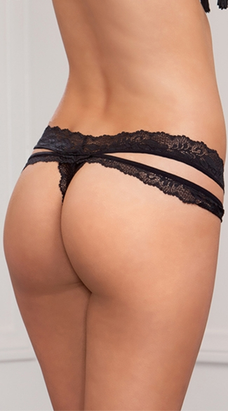Plus Size Scallop Lace Thong