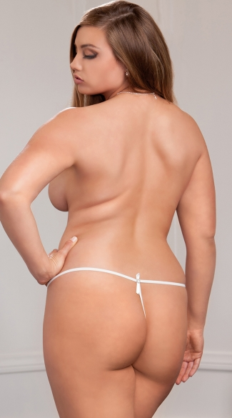 Plus Size Flirty Scallop Lace G-string