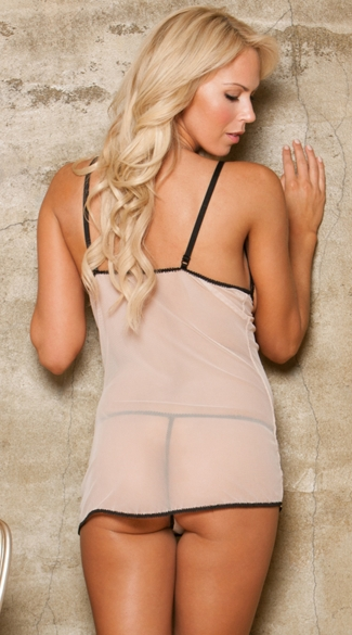Nude Open Cup Chemise and Thong