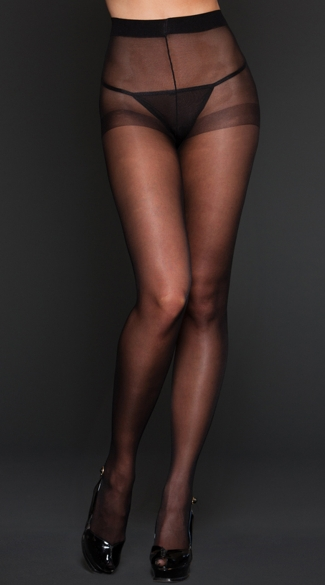 Sheer Spandex Pantyhose, Sheer Black Pantyhose