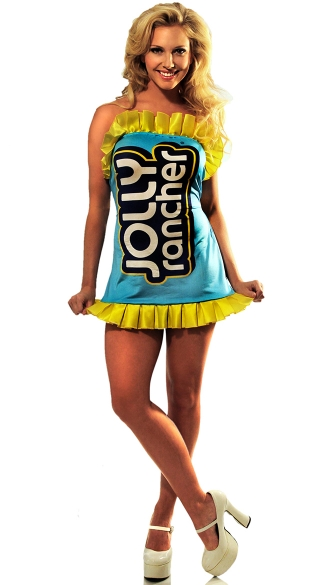 Blue Jolly Rancher Costume