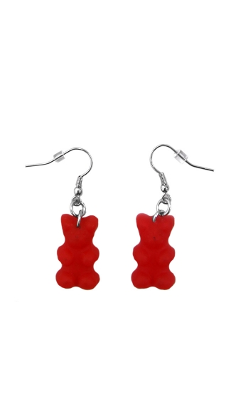 Red Gummy Bear Earrings