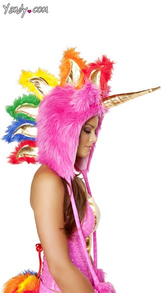 Deluxe Hot Pink Unicorn Hood