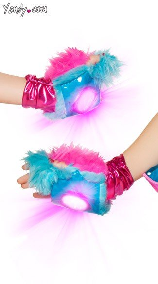 Light-Up Faux Fur Gloves