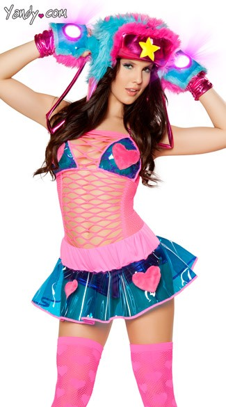 Blue and Pink Heart Skirt and Top