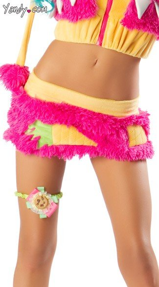 Deluxe Monster Skirt, Mini Pink Skirt, Monster Costume Mini Skirt, Faux Fur Costume Skirt