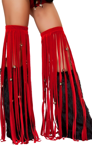 Jingle Bell Fringe Leggings