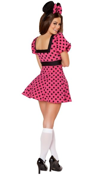 Black and Pink Mouse Costume
