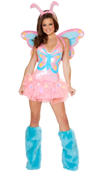 Deluxe Pastel Butterfly Costume, Pink and Blue Butterfly Costume