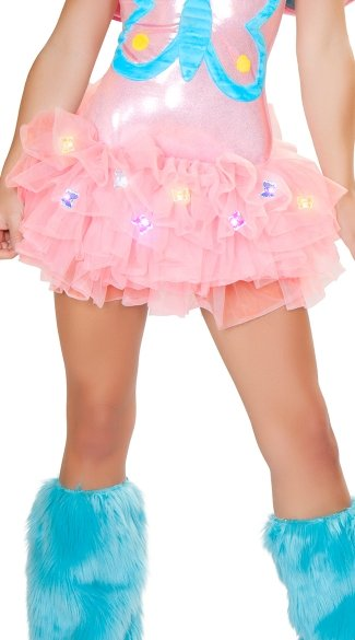 Pink Light Up Butterfly Tutu, Pink Tutu with Butterflies