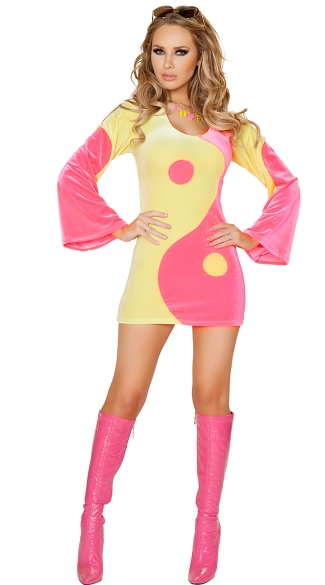 Pink and Yellow Yin Yang Costume, Yin-Yang Costume, Ying and Yang Costume