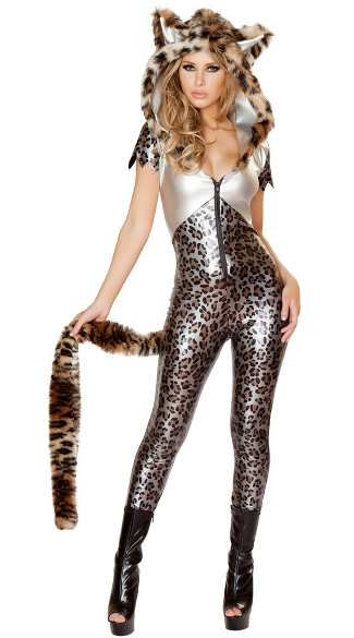 Deluxe Silver Leopard Costume