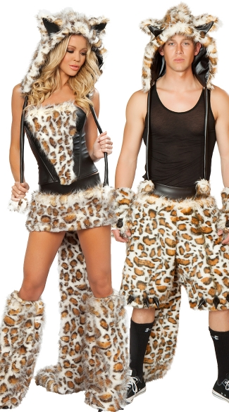 Leopard Corset, Skirt and Tail