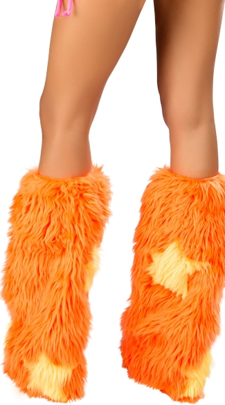 Faux Fur Star Legwarmers