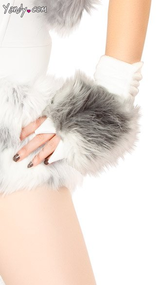 Husky Costume Claw Gloves