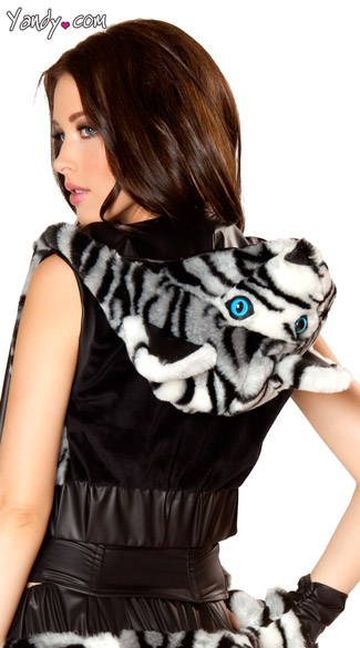 White Tiger Costume Hood