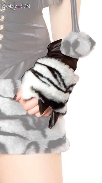White Tiger Costume Claw Gloves