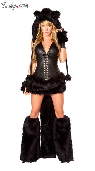 Deluxe Black Cat Costu...