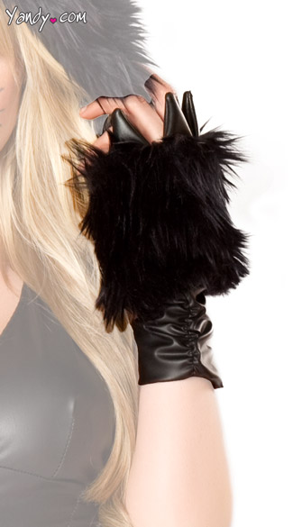 Black Cat Claw Gloves Cat Costume Gloves Black