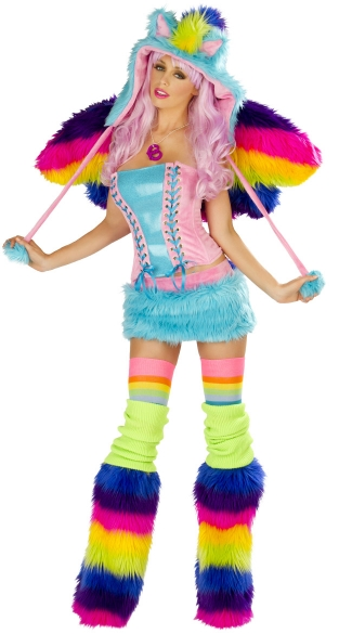 Deluxe Rainbow Pony Corset and Skirt