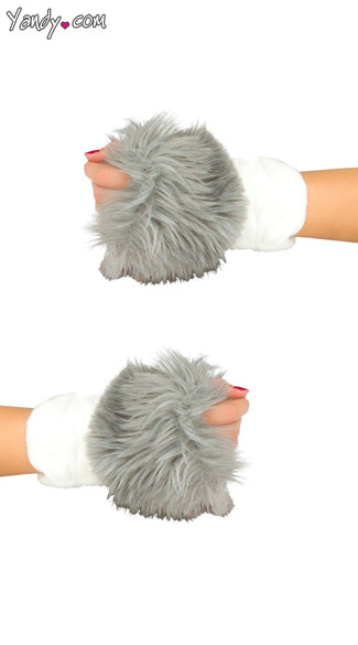 Deluxe Elephant Gloves, Soft Gray Gloves, Gray Elephant Gloves