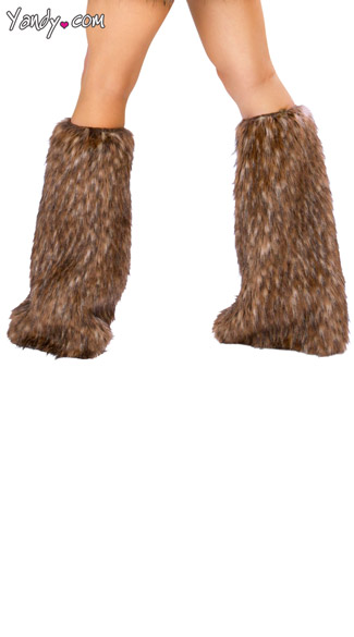 Deluxe Teddy Bear Legwarmers, Brown Furry Leg Warmers, Teddy Bear Leg Warmers