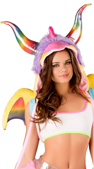 Rainbow Dragon Hood