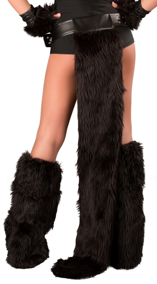 Black Cat Belt With Furry Tail, Sexy Black Cat Tail, Black Cat Costume Accessory