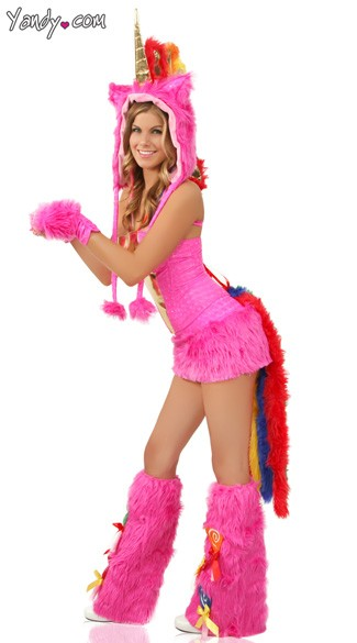 Deluxe Hot Pink Unicorn Corset, Skirt and Tail