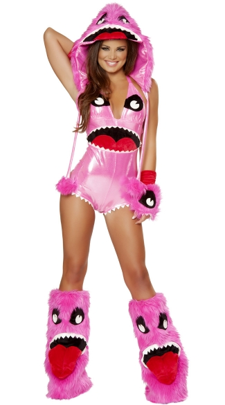 Deluxe Pink Monster Costume, Monster Halloween Costume, Monster Girl Costume, Adult Sexy Monster Costume