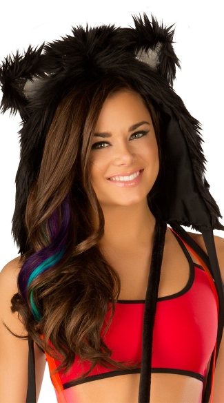 Faux Fur Light-Up Hood