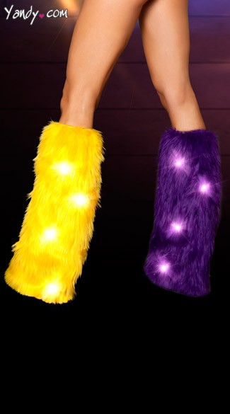 Faux Fur Light-Up Legwarmers