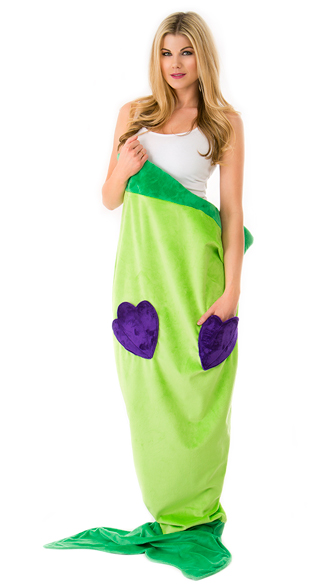 Exlcuisve Green Cuddle Mermaid Blanket, Fleece Mermaid Blanket, Cute Mermaid Blanket