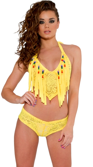 Cyclone Lace Fringe Top