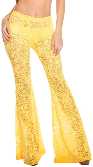 Cyclone Lace Bell Bottom Pant, Lace Bell Bottom Pants, Lace Pants