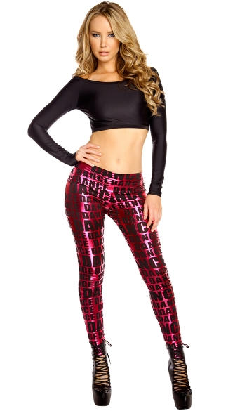 Long Sleeve Crop Top, Short Top, Cropped Shirt, Dance Pant, Stretchy Dance Pants, Dancewear Pants