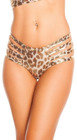 Leopard Strappy Bottoms