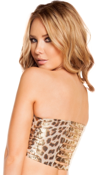 Leopard Ladder Tube Top