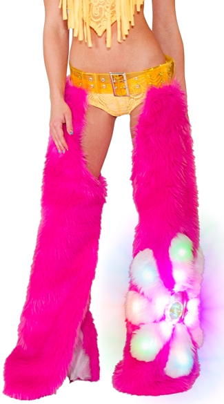 Light-Up Hot Pink Daisy Chaps