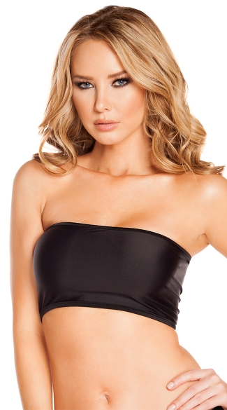 Black Basic Tube Top, Bando Bra, Black Tube Top