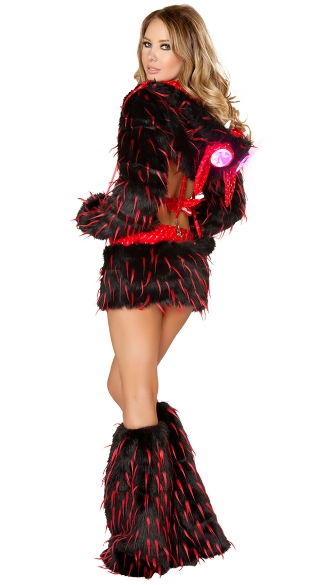 Black and Red Furry Rave Animal Set Black and Red Rave Outfit