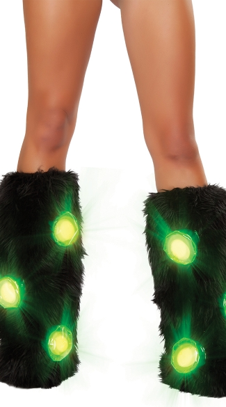 Light-Up Furry Legwarmers, Legwarmers with Lights