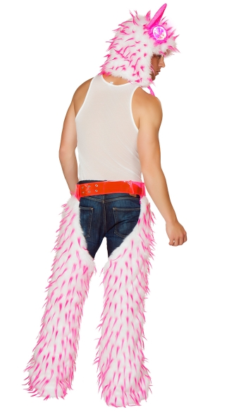 Unisex Spiked Fur Chaps