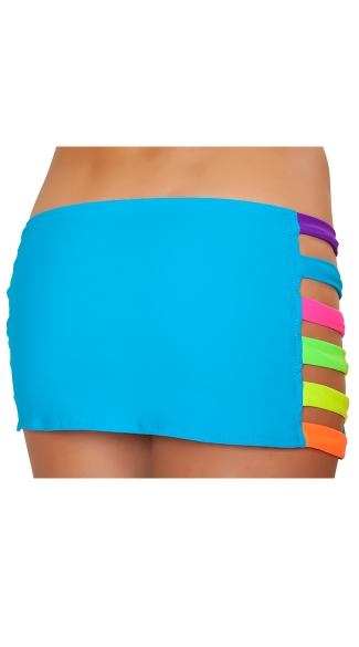 Neon Banded Mini Skirt