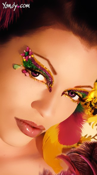 Mardi Gras Glitter Eye Kit, Mardi Gras Costume Make Up, Fat Tuesday Make Up